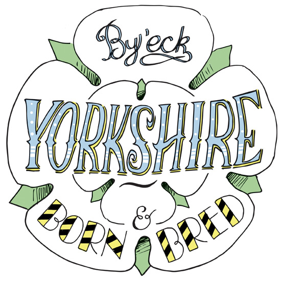 Yorkshire Rose proverb coaster | Pen and ink typography & illustration | Custom Hand lettering