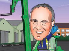 Cartoon caricature | Personal commission | Fork lift truck | Digital illustration