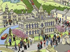 Saltaire Village Architecture | Illustrated prints | Shipley, Yorkshire