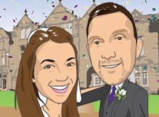 Wedding invite caricature | Personal commission | Cartoon | Digital illustration