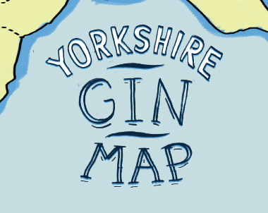 Yorkshire Gin Map • Illustrated print