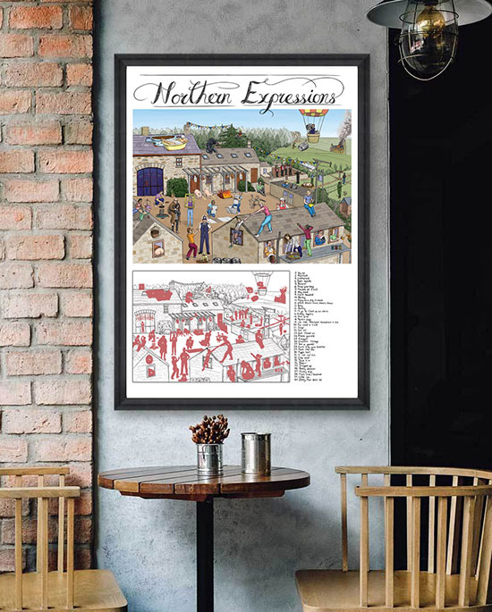 Northern Expressions   Art print   pen and ink