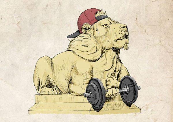 Saltaire lions determination