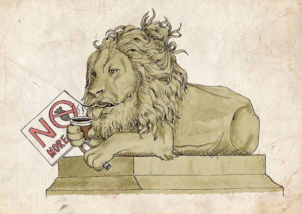Saltaire lions peace