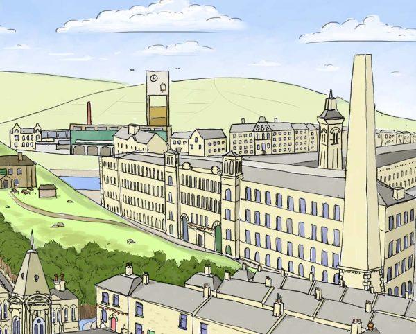 Salts Mill illustration