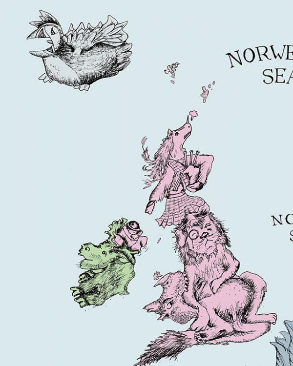 Europe map illustration - UK