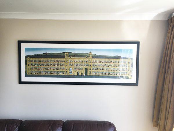 Salts Mill illustration framed