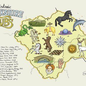 Yorkshire pub map illustration