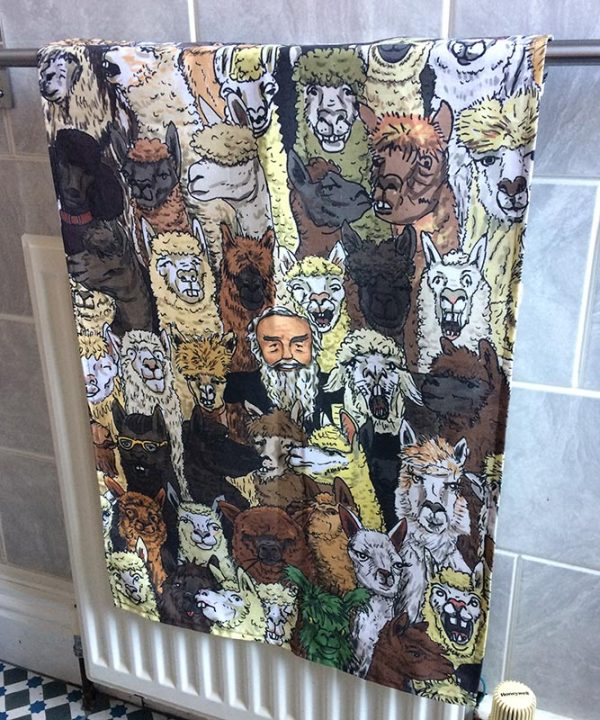Alpaca tea towel 2