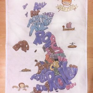 British bread map tea towel