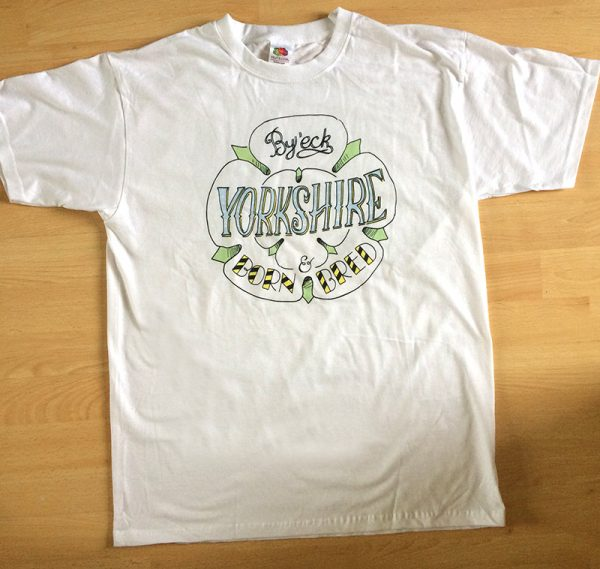 Yorkshire born and bred t shirt 2
