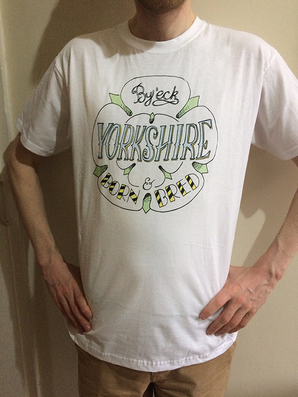 Yorkshire born and bred t shirt 1