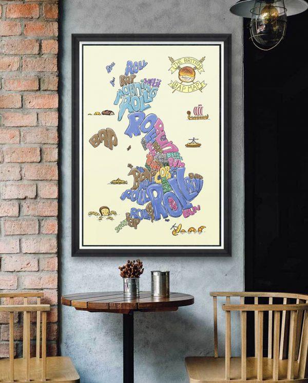 british bread map framed