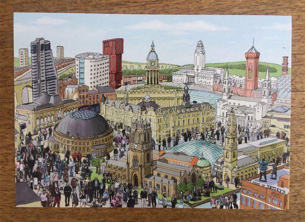 Leeds postcard