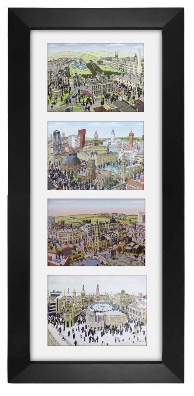 Yorkshire landscape postcards framed