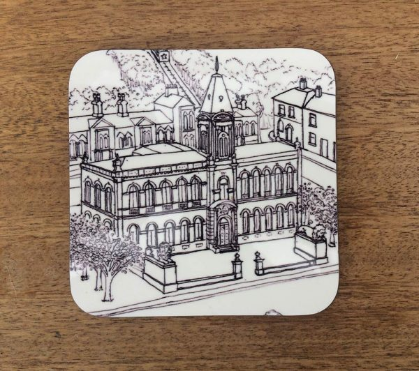 Yorkshire architecture coaster - Saltaire