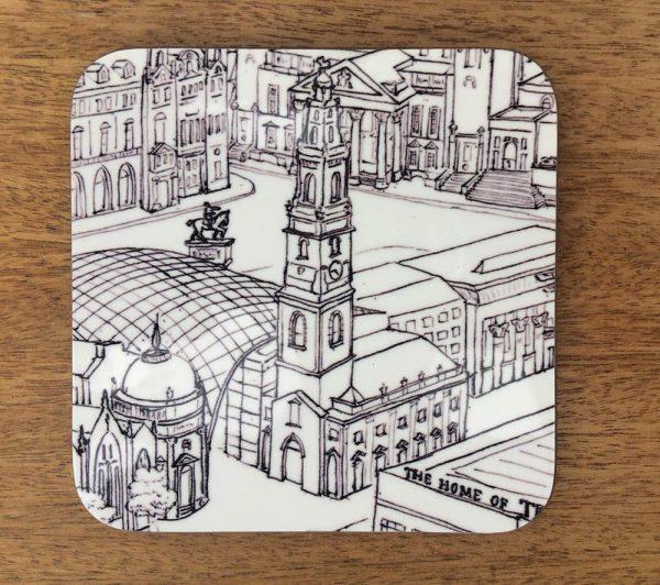 Yorkshire architecture coaster - Leeds