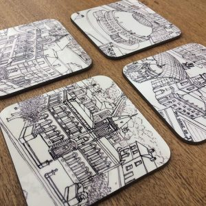 Yorkshire architecture coaster