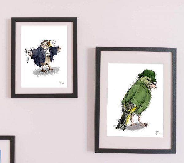 british garden birds framed