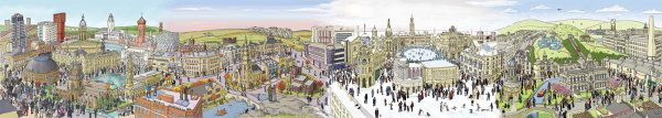 Yorkshire seasons illustrated landscape full image