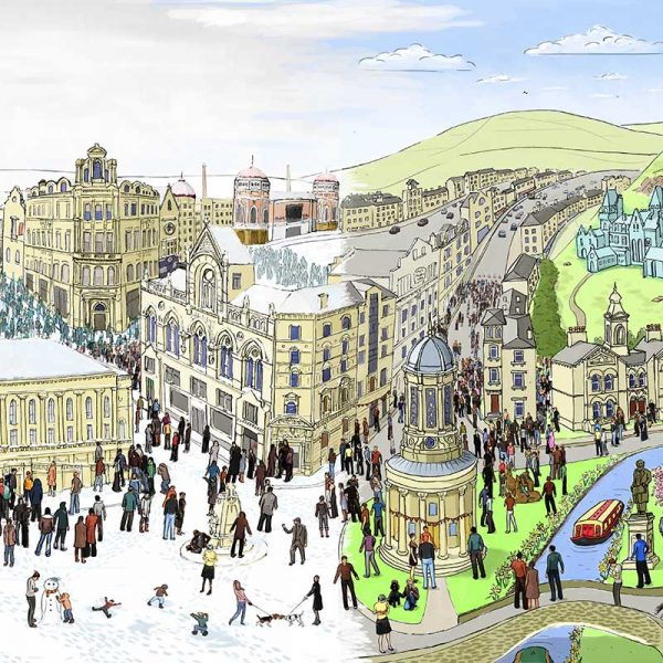 Seasons landscape Bradford and Saltaire